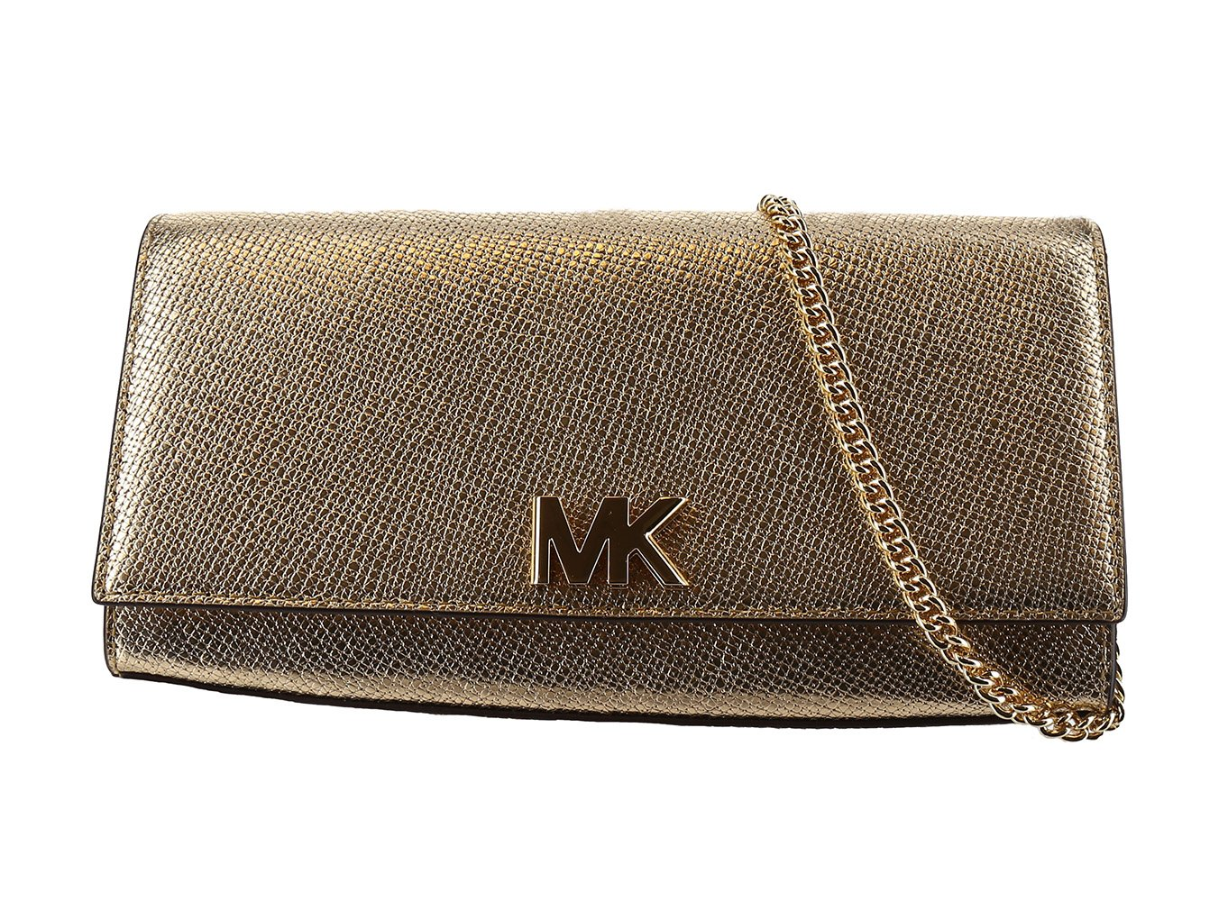 MICHAEL Michael Kors Mott East-West Clutch - Pale Gold by MICHAEL Michael Kors