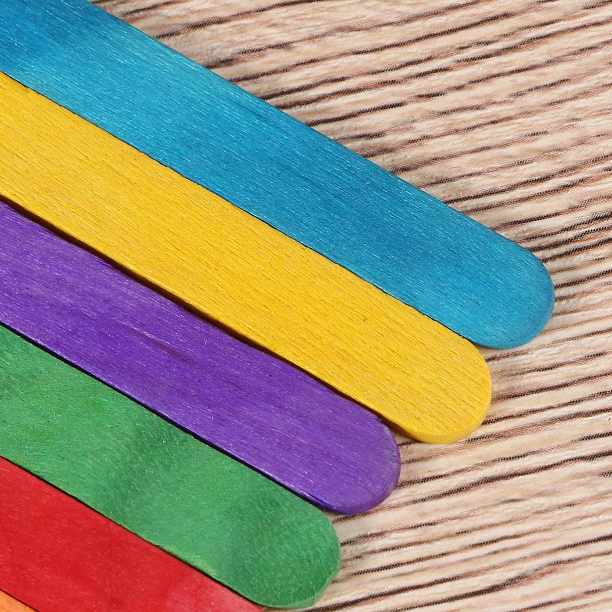 Healifty Palos Artesanales de Madera de Color Natural Palos de Paletas de Madera Gigantes para Helado Material de Manualidades Diy 100 Piezas