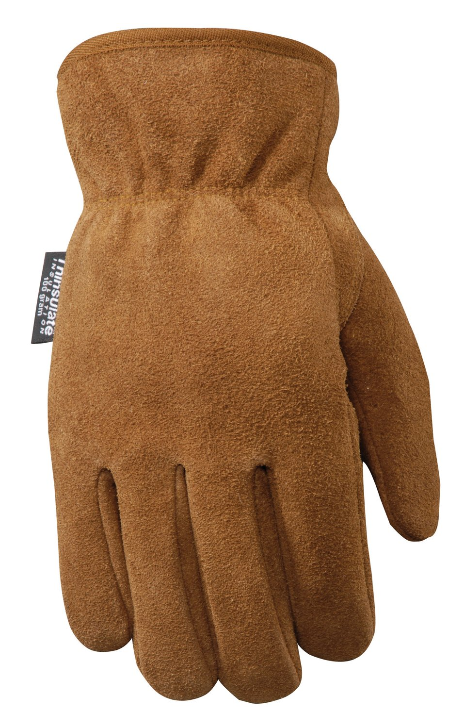 Wells Lamont Leather Work Gloves with 100-gram Thinsulate Insulation, Split Cowhide