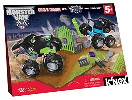 Amazon Knex Monster Jam Grave Digger Versus Son Uva Digger