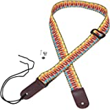 Mugig Cotton Adjustable Ukulele Strap with Leather Ends
