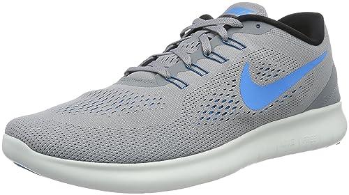 685b0d653d8e9 Nike Men s Free Rn Stealth Blue Glow Black Cl Gry Running Shoe 8.5 ...