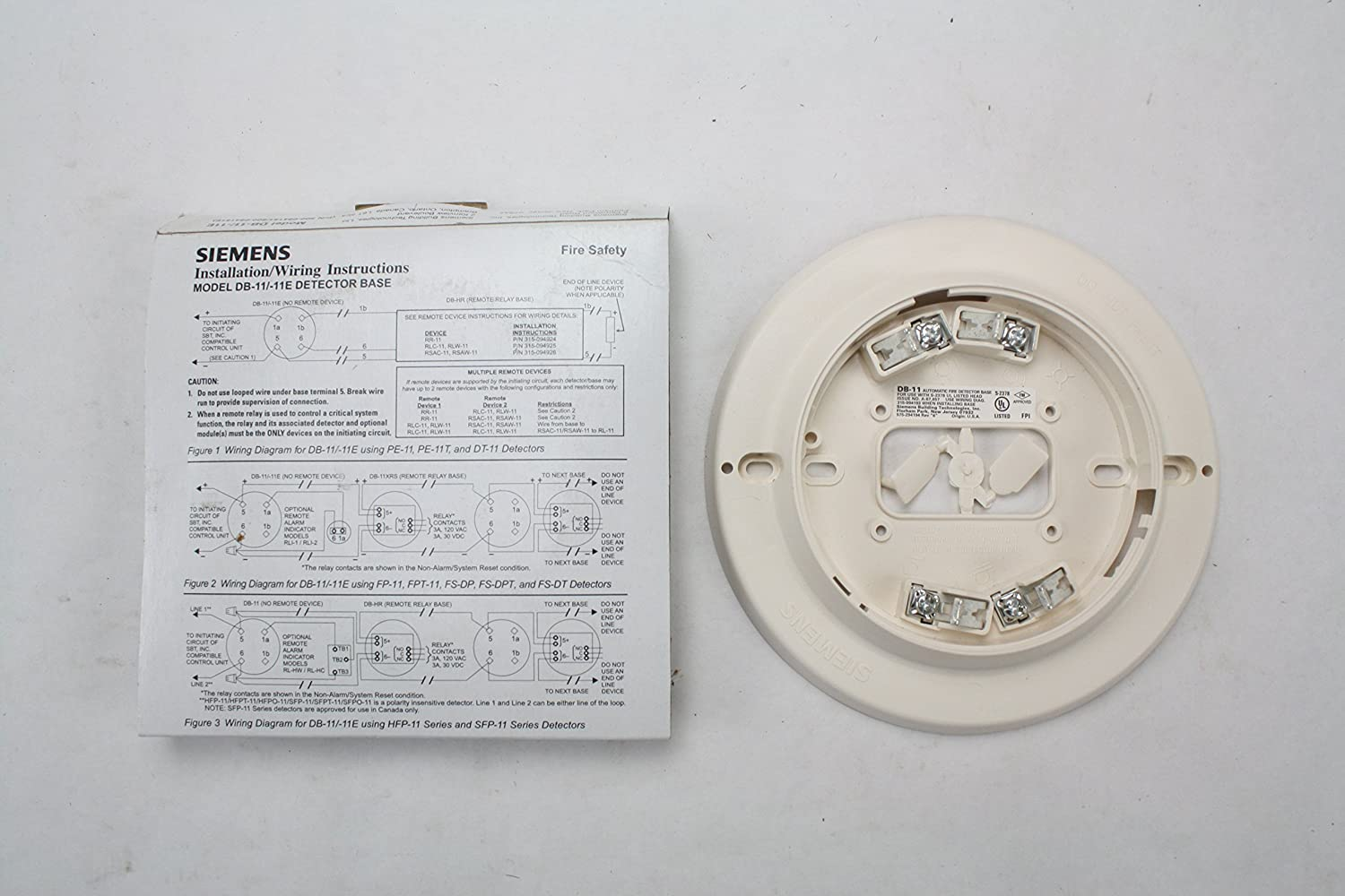 Siemens DB-11 500-094151 Fire Alarm Low Profile Surface Mount Detector Base - - Amazon.com