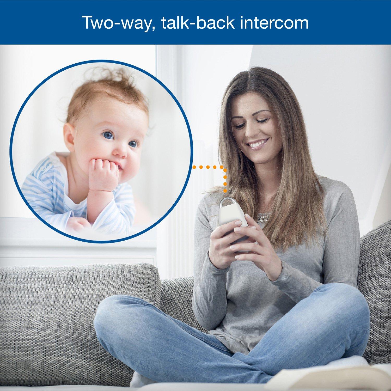 VTech DM221 Audio Baby Monitor with up to 1,000 ft of Range, Vibrating Sound-Alert, Talk Back Intercom & Night Light Loop by VTech (Image #4)