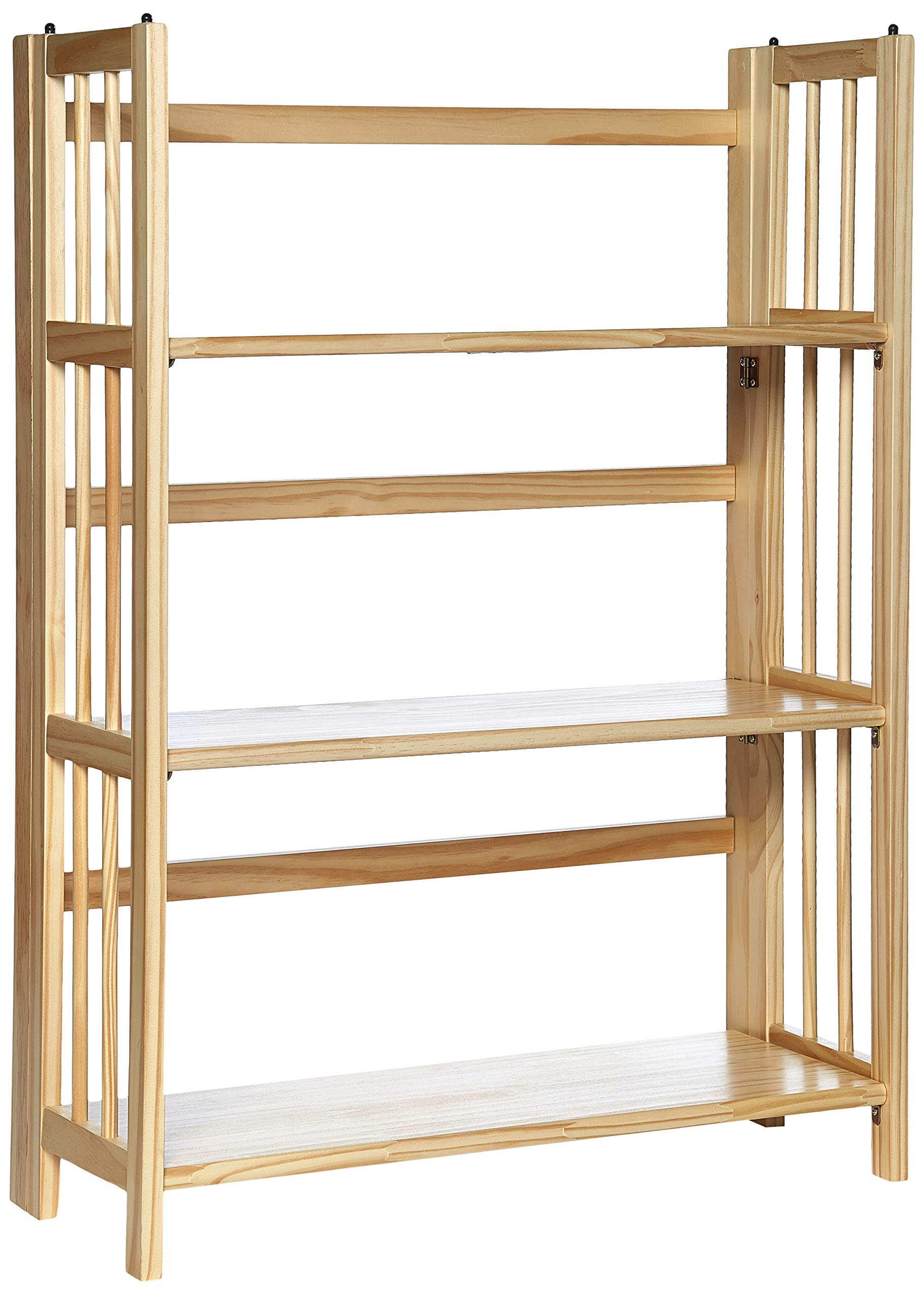 Casual Home 3-Shelf Folding Stackable Bookcase (27.5'' Wide)-Natural