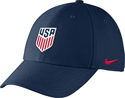 72119661862 Image Unavailable. Image not available for. Color  Nike Men s USA Soccer  Crest Structured Navy Flex Hat ...