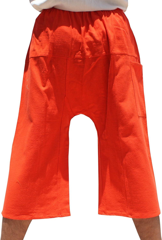 RaanPahMuang Brand Thailand Sadaw Baggy 3//4 Leg Peasants Pants Warm Cotton