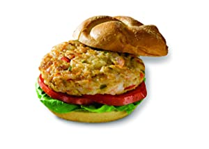 Big Shake's Classic Frozen Shrimp Grill Burger Patties - Perfect Frozen Keto-Friendly Fish Shrimps 18 Whole Shrimp Burgers