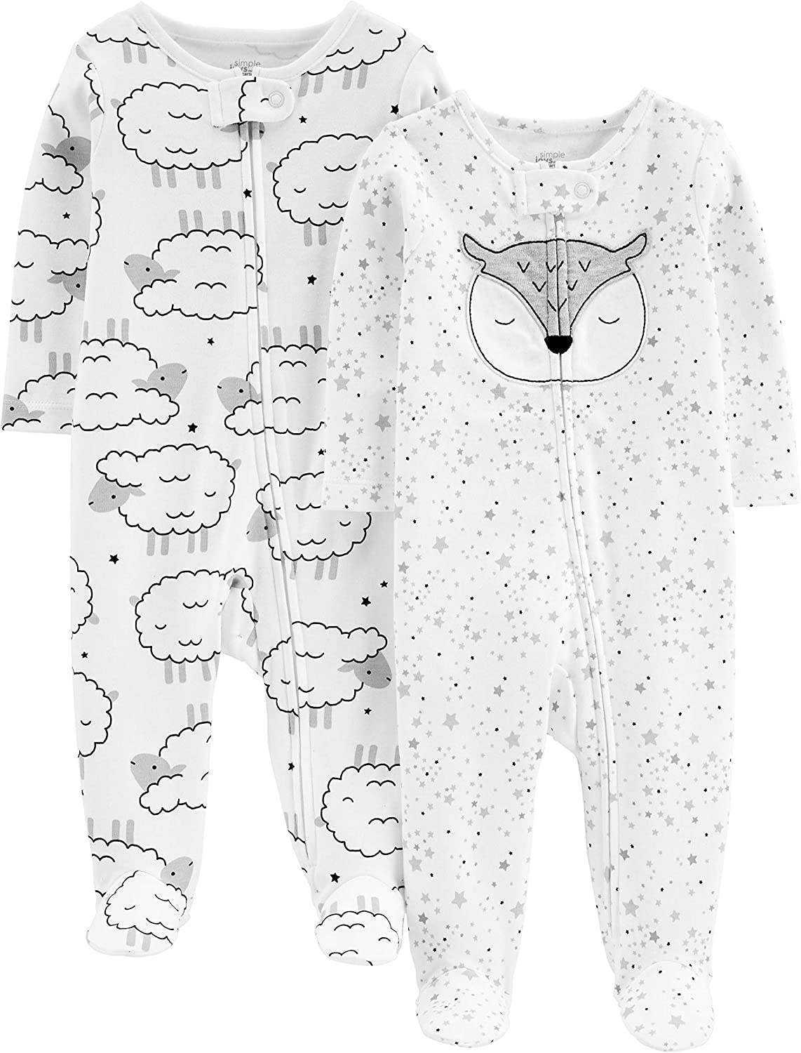 Simple Joys by Carters Baby Neutral 2-Pack Cotton Footed Sleep and Play