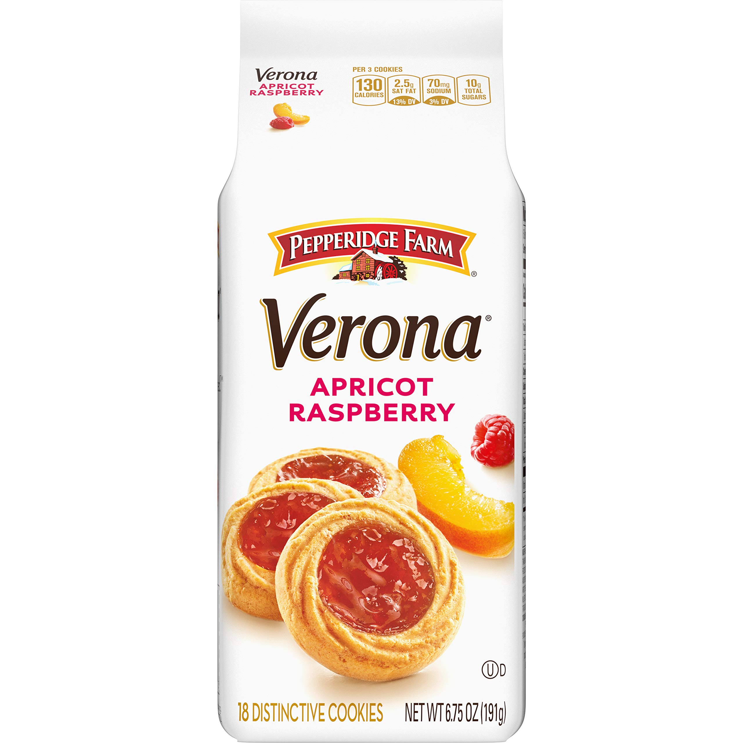 Pepperidge Farm Verona Apricot Raspberry Thumbprint Cookies, 6.75 oz. Bag