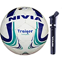 Nivia Trainer Volley Combo (Trainer 32-P Volleyball + Double Action Ball Pump)