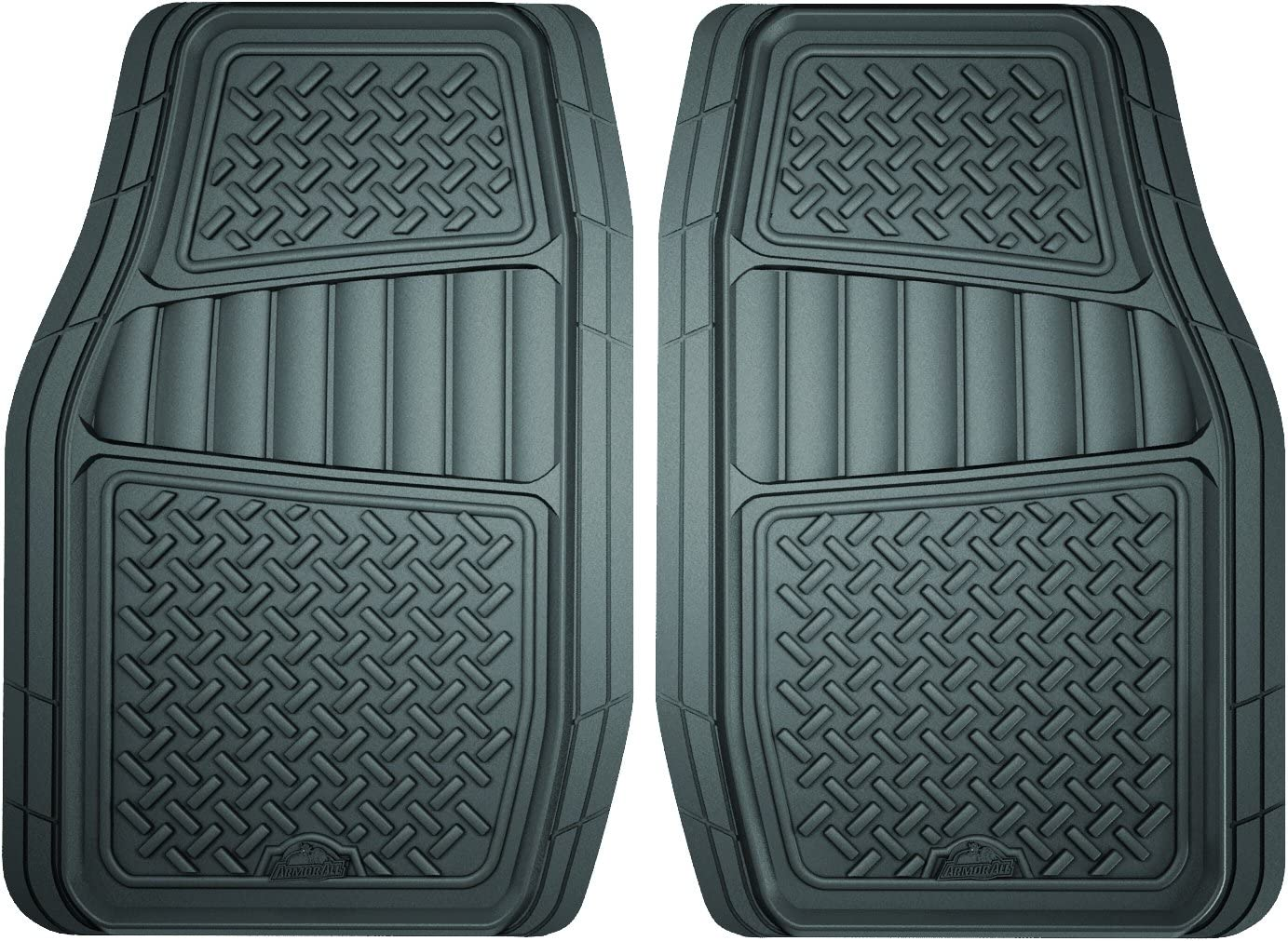 Armor All Custom Accessories 78831 2-Piece Grey All Season Truck/SUV Rubber Floor Mat