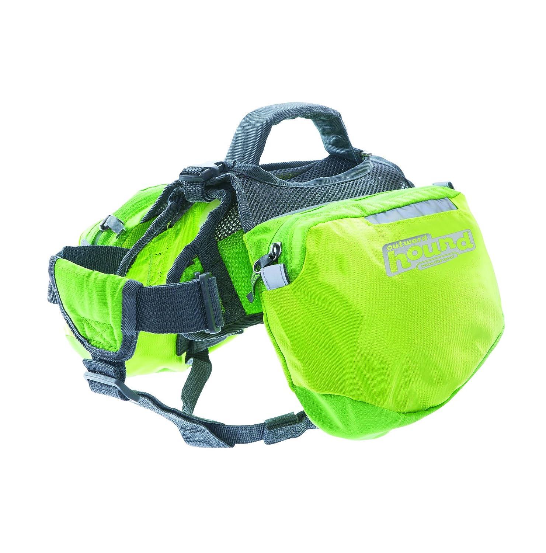 Outward Hound Quick Release Backpack Saddlebag Style Dog Backpack Medium Green Kyjen 22010