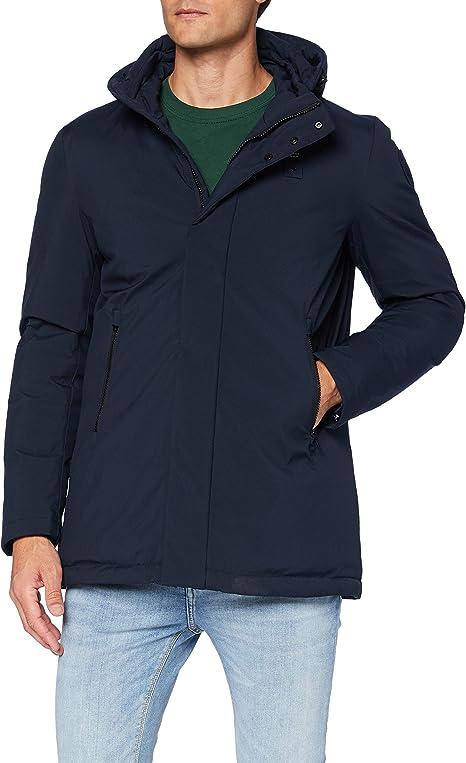 Blauer Impermeabile//Trench Lunghi Imbottito Piuma Abrigo de vestir para Hombre