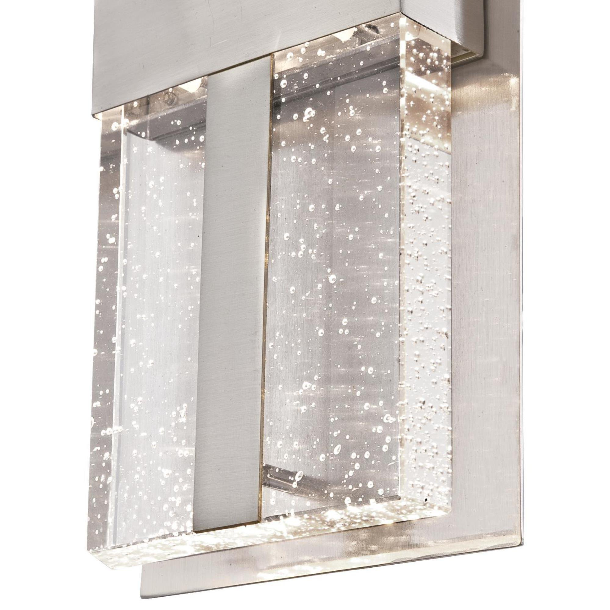 Westinghouse 6349000 Cava II One LED Outdoor Wall Fixture, Brushed Nickel Finish with Bubble Glass, 1 Light by Westinghouse (Image #5)