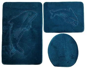 Pezzi di mobili da bagno cm colore blu petrolio badset