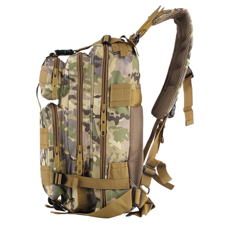 OUTAD Sac /à Dos Tactique Militaire 24L 3P US Assault Pack Imperm/éable MOLLE 600D Nylon