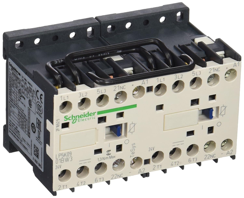 Schneider Electric LP5K0901BW3 Contactor Inversor 3P Ac-3 <=440 V, 9 A Bobina 24 V Cd