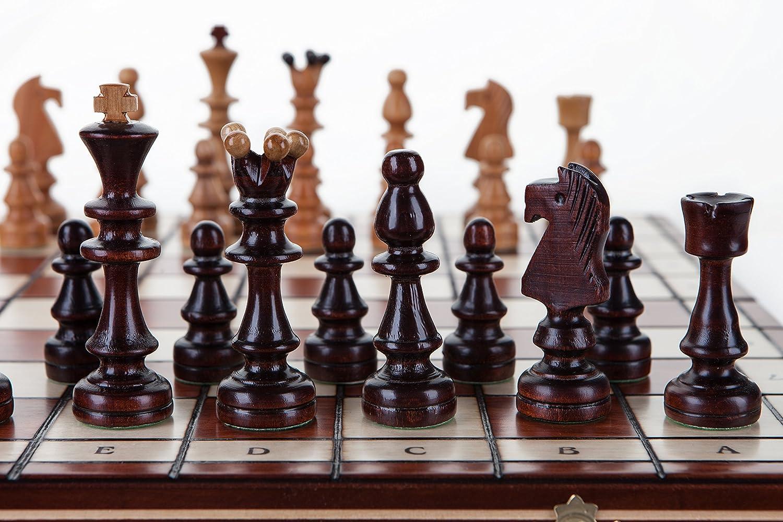 precios al por mayor Olímpico - grande 40cm/10,8 en ajedrez artesanal artesanal artesanal de madera Set cerezo  edición limitada