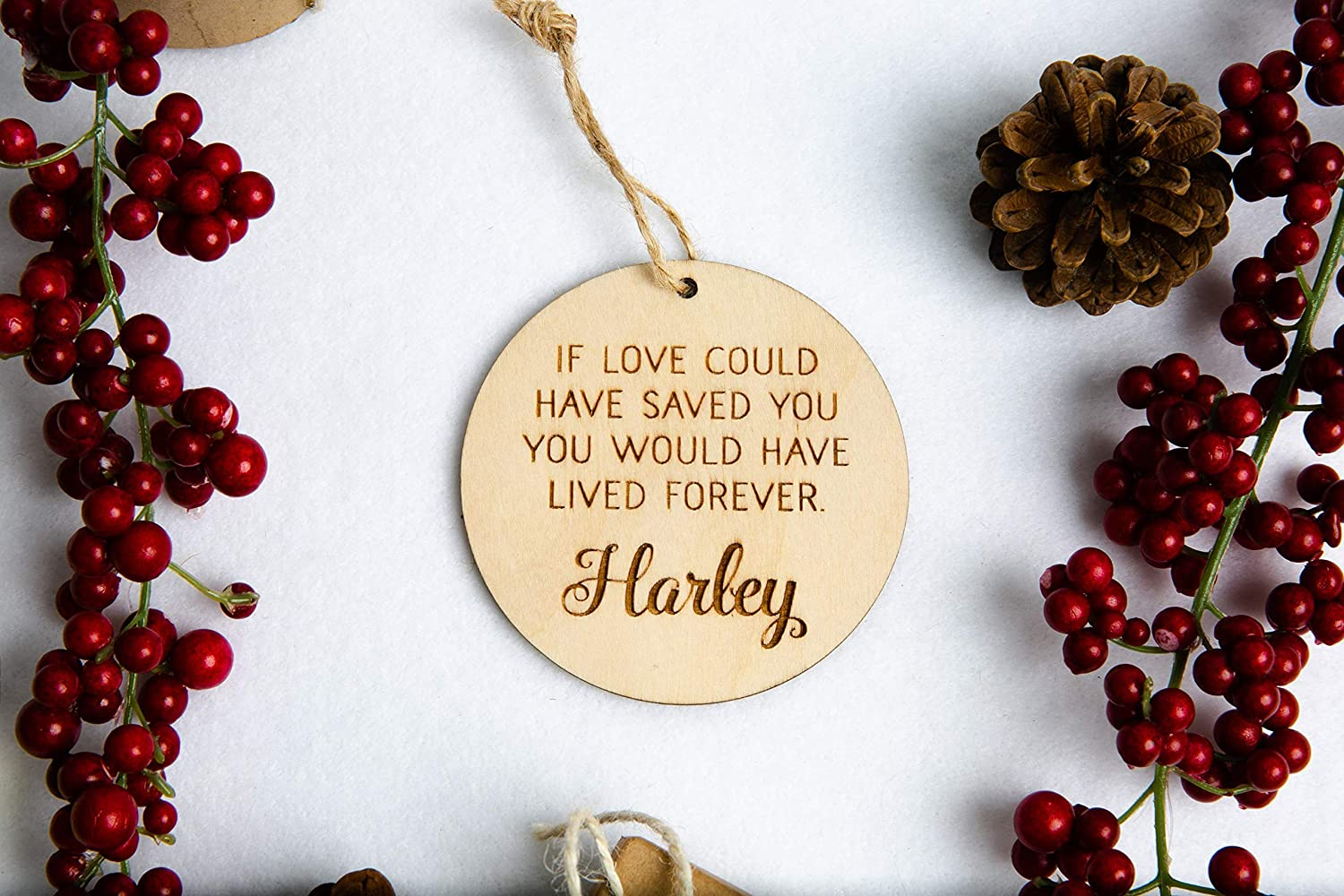 Amazon.com: Personalized Memorial Christmas Ornament with ...