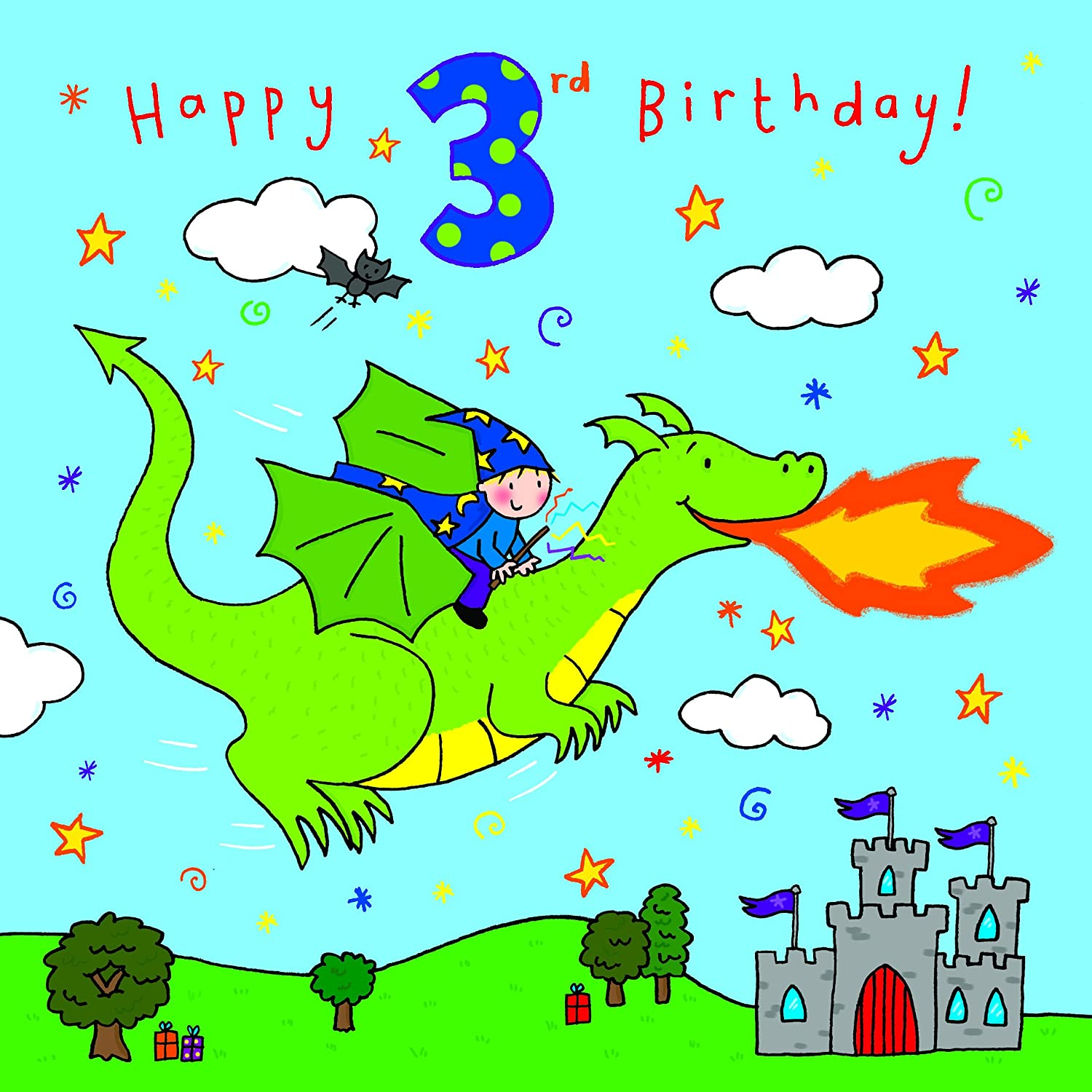 Twizler 9th Birthday Card for Boy with Present Balloon and – Birthday Card for Boy