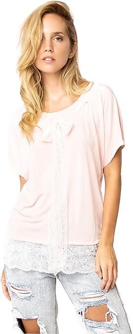El Armario De Lulú Camiseta Lima Estilo Casual Rosa : Amazon ...