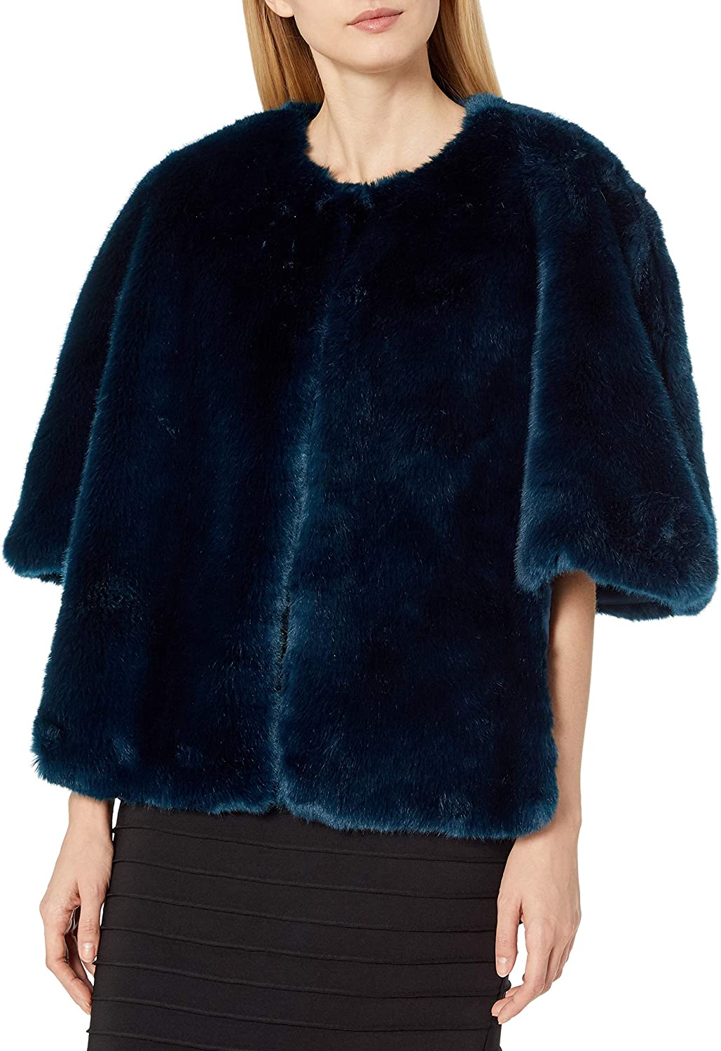 Adrianna Papell womens FAUX FUR JACKET Faux-Fur Coat