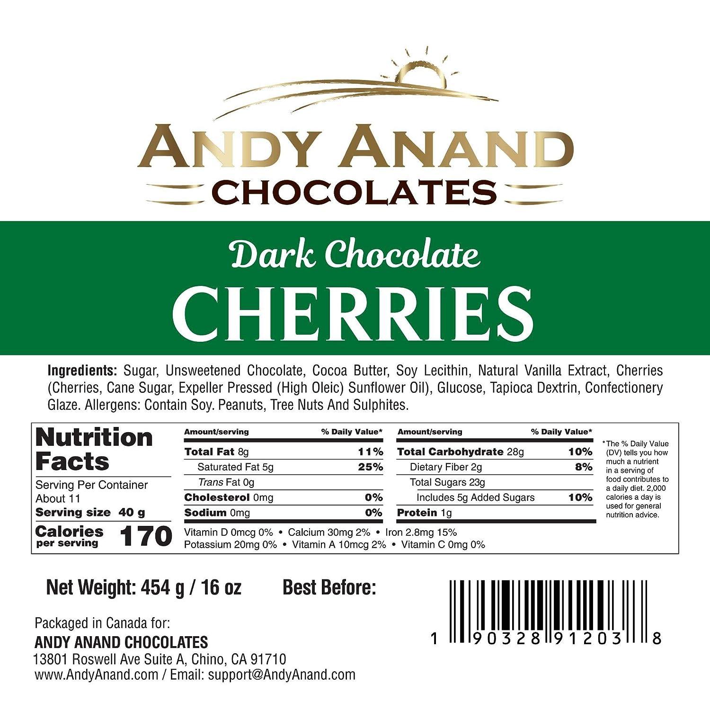 Andy Anand Chocolates Premium California - Cerezas orgánicas ...
