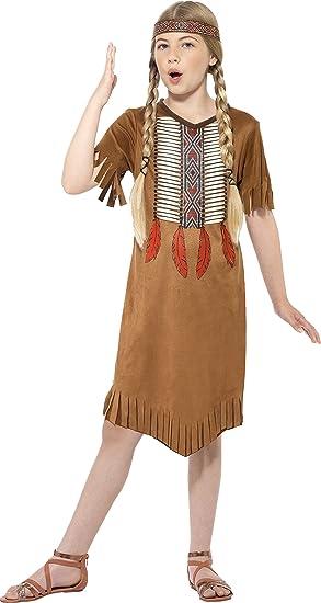 Smiffys - Disfraz infantil de indio nativo para niña, talla ...
