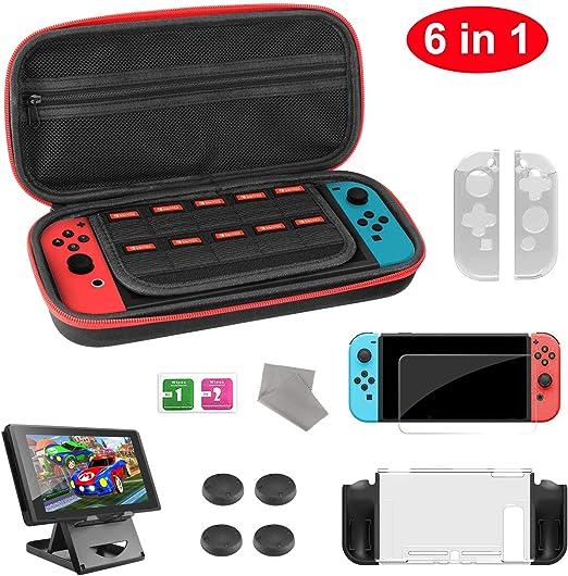 Molyhood - Kit de accesorios para Nintendo Switch con protector de ...