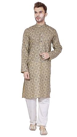 704f6b0fbc Amazon.com: SKAVIJ Men's Tunic Kurta Pyjama Set Party Wear Dress (X ...