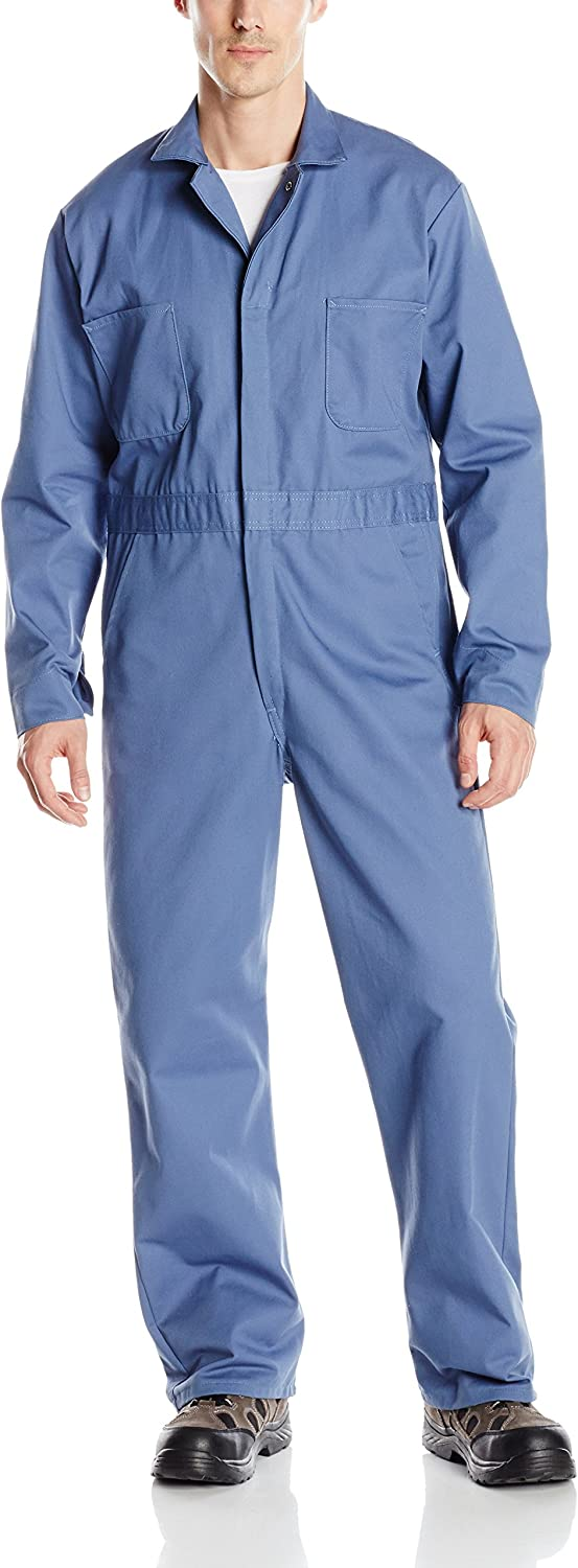 Red Kap Mens Snap Front Cotton Coverall