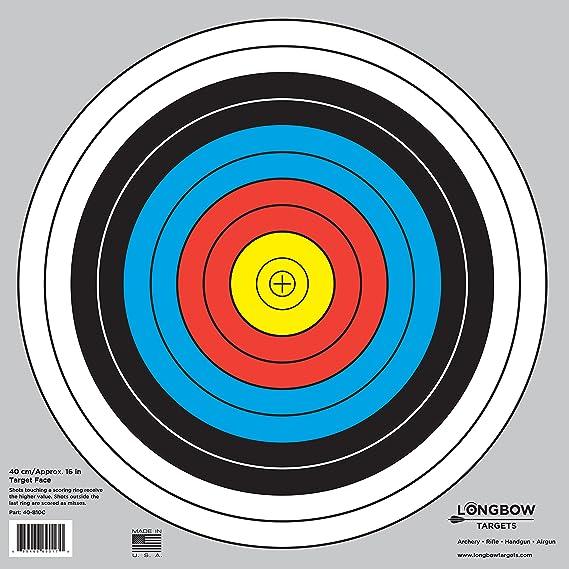 Amazon Com Archery 40cm 80cm Targets By Longbow Sports Outdoors