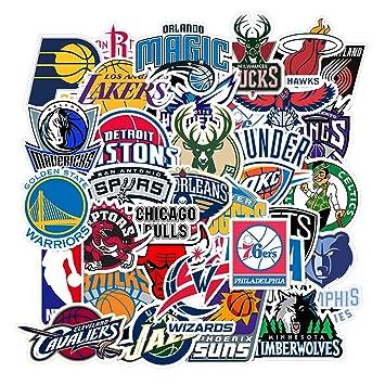 32 Pegatinas de la Liga de Baloncesto de la NBA, para Botella de ...