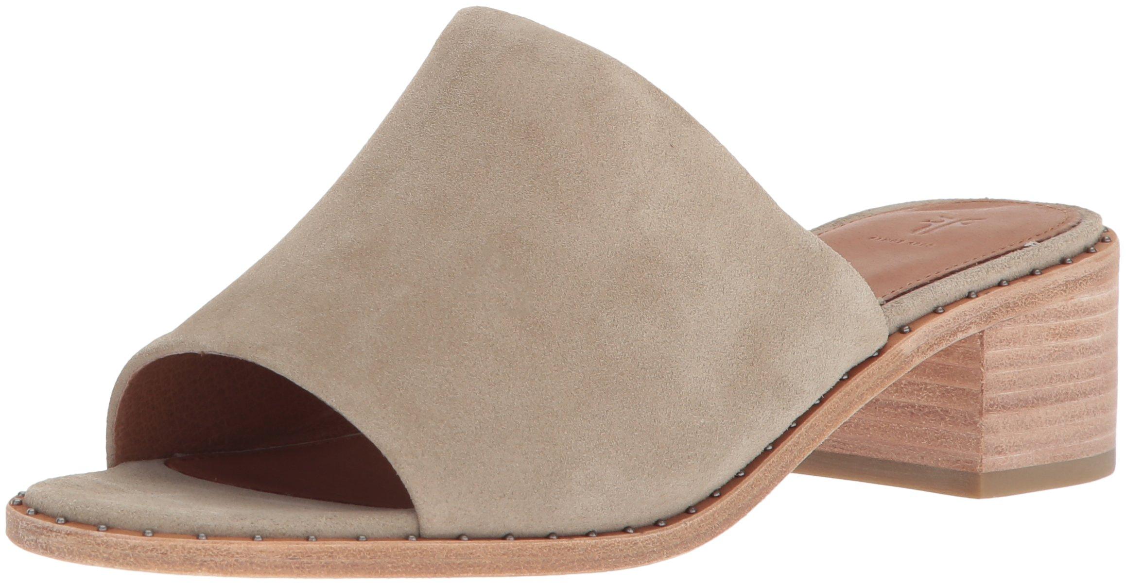 FRYE Women's Cindy Mule Heeled Sandal, Cement, 9 M US