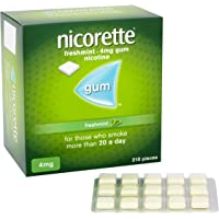 Nicorette Fresh Mint Chewing Gum, 4 mg, 210 Pieces (Stop Smoking Aid)