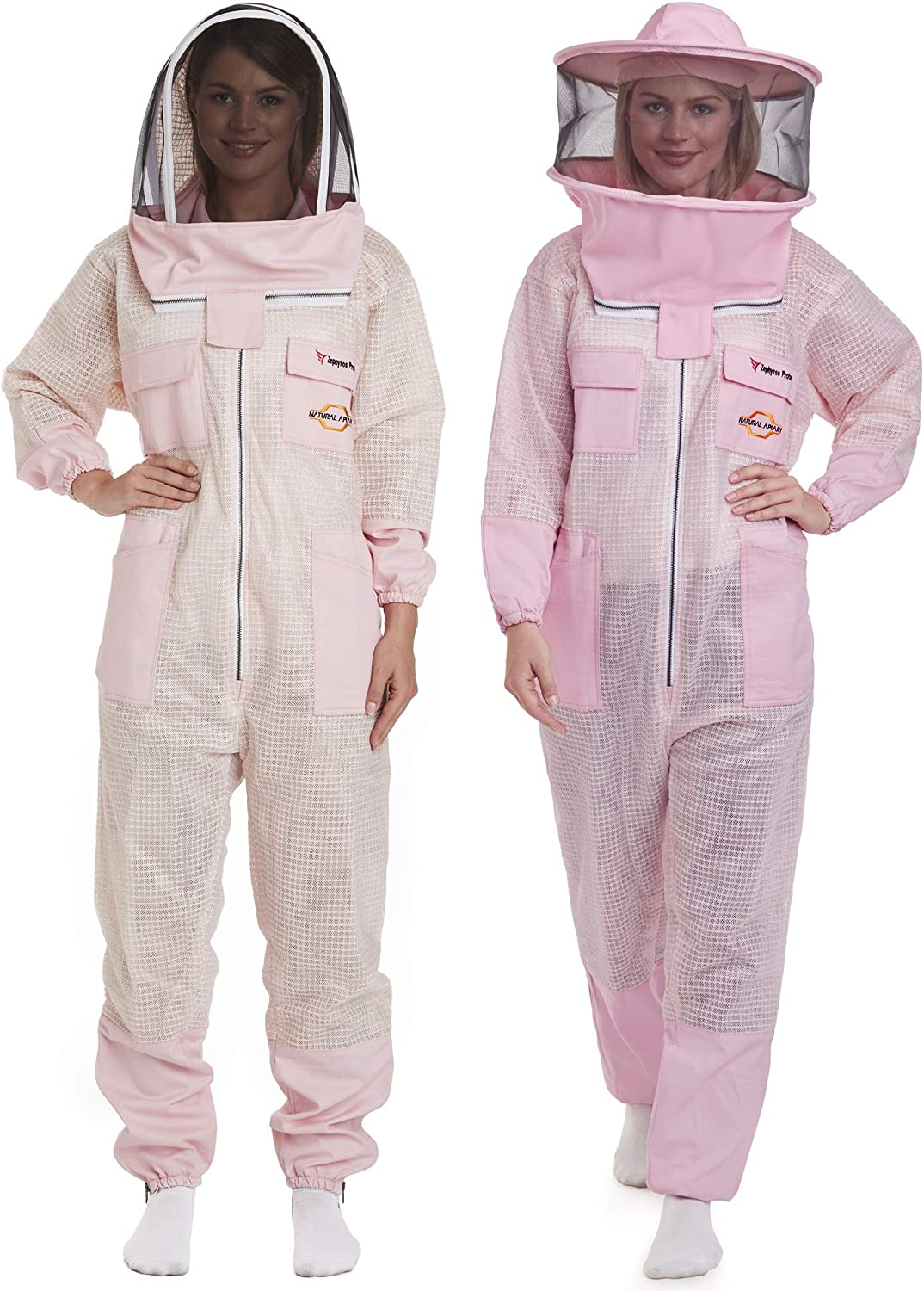 Pink Fully Ventilated Beekeeping Jacket Large