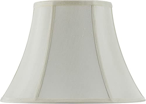 Cal Lighting SH-8104 18-EG Vertical Piped Basic Bell Shade with 18-Inch Bottom, Egg Shell
