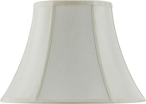 Cal Lighting SH-8104 12-EG 12-Inch Bottom Vertical Piped Basic Bell Shade, Egg Shell