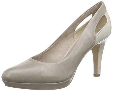 22411, Damen Plateau Pumps, Grau (Stone 205), 37 EU (4 Damen UK) s.Oliver