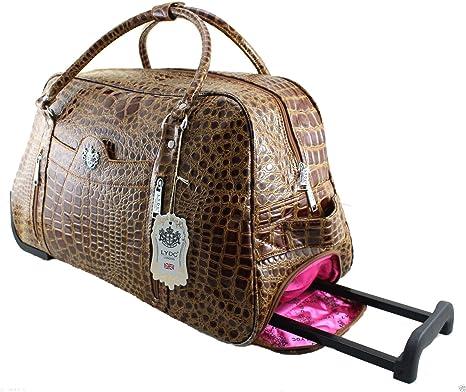 Bolso de viaje con ruedas de Lydc para cabina con piel de cocodrilo (para mujer