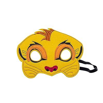 Kids Lion Animal King Mask Handmark Felt Safari Birthday Party Child Felt (MASK-1): Clothing