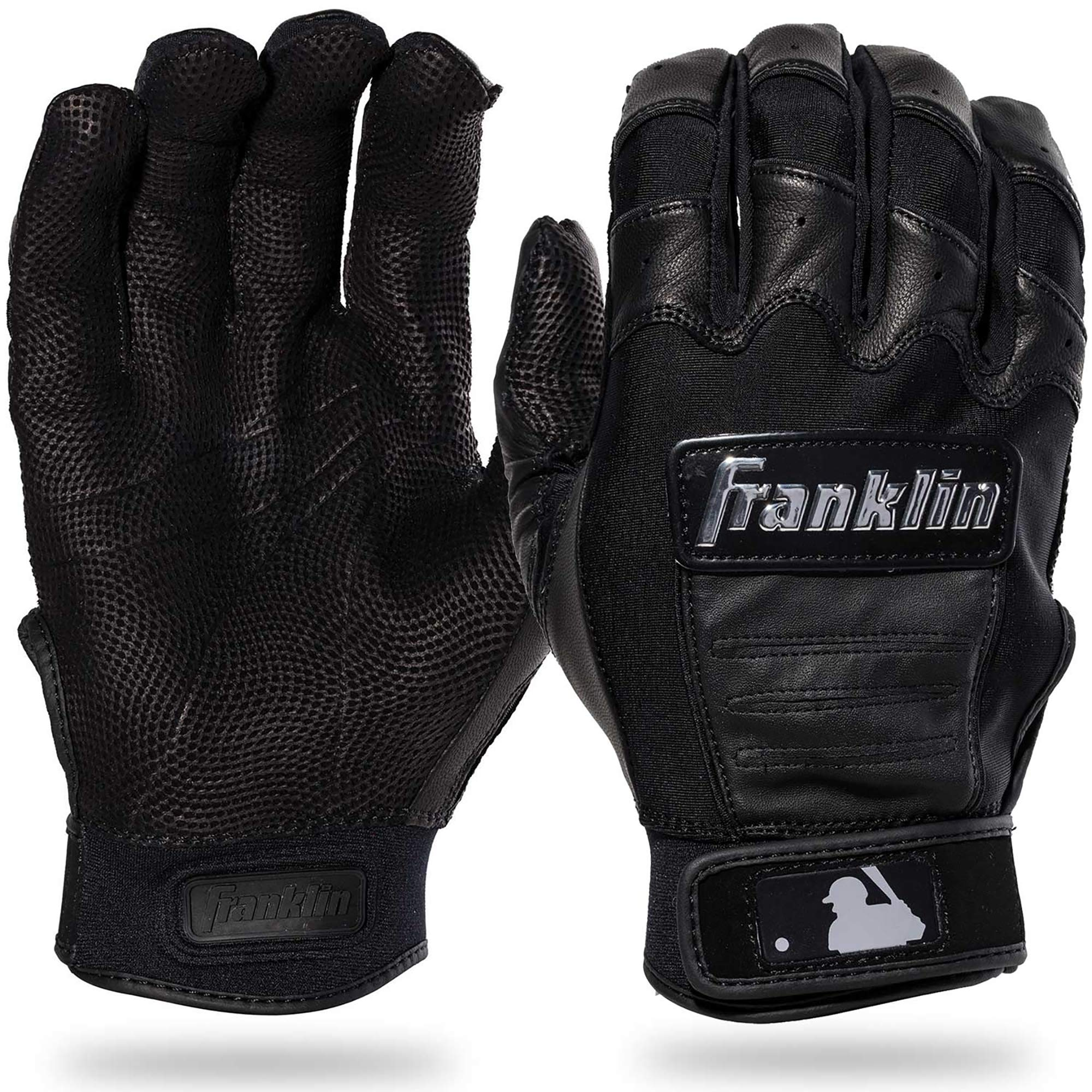 Franklin Sports CFX Pro Full Color Chrome Series Batting Gloves CFX Pro Full Color Chrome Batting Gloves, Black, Adult Small