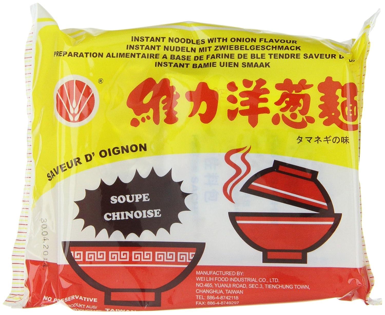 Soupe nouille oignon VE WONG carton 30x85g Taiwan: Amazon.es: Alimentación y bebidas