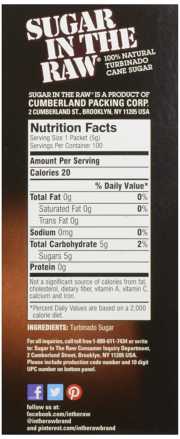 Amazon.com : Sugar In The Raw Sugar In The Raw Packets, 16 oz (100 ct) : Grocery & Gourmet Food