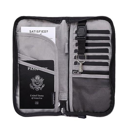 9f33b148e3b6 Amazon.com | Zoppen RFID Travel Passport Wallet & Documents ...