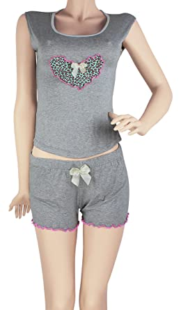 Hipnys Sleepwear SHC3 Pajama Short Sleeveless PJ Sets for Women Ladies Nightwear