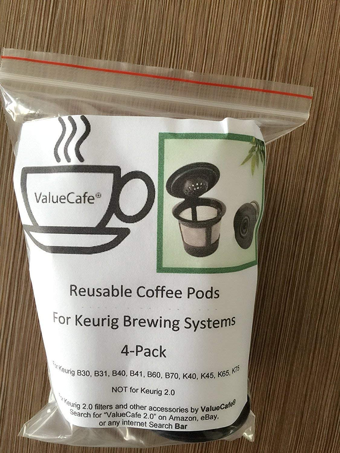 4 Permanent Coffee Filters for Keurig