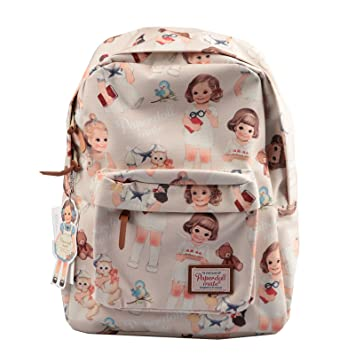 96cd7bbee611 Afrocat Paper Doll Mate Backpack Bag (Beige)