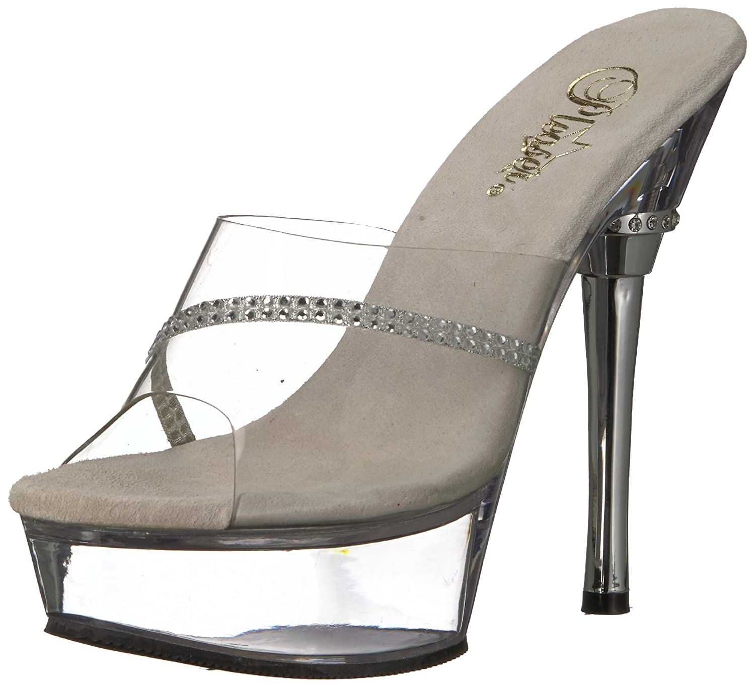 Pleaser Women's DELIGHT-602/C/M Platform Sandal B0013JDILK 8 B(M) US|Clear